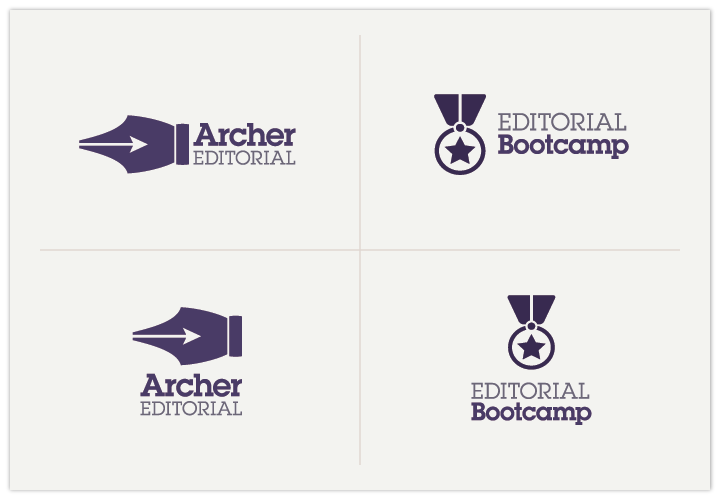 Image of Archer Editorial logo by John Paredes Design