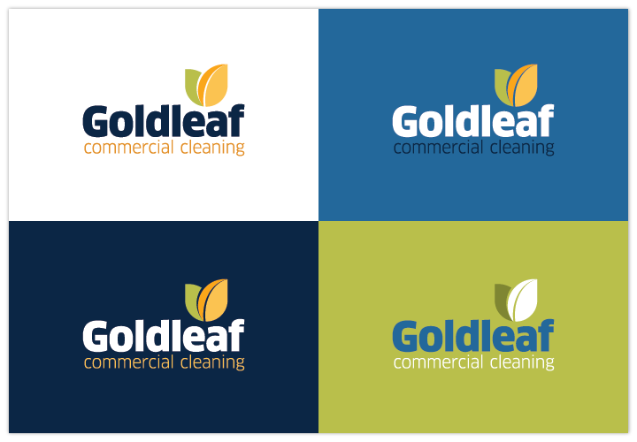 Image of Goldleaf Commercial Cleaning logo by John Paredes Design